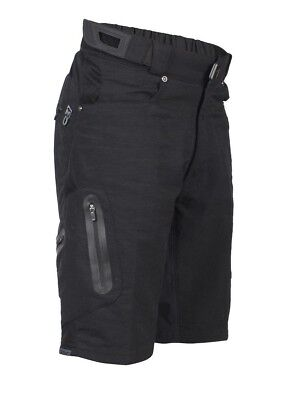 (Large, Black) - Zoic Junior Ether Bike Shorts. Delivery is Free