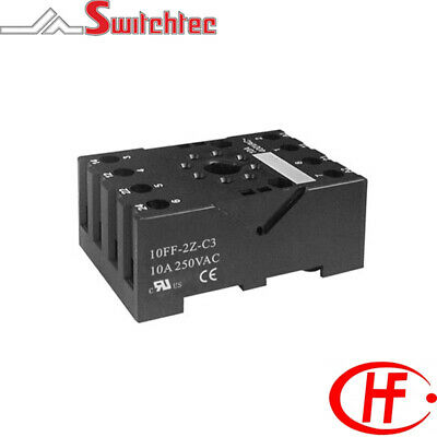 Ip20 Din Rail Mount Socket Suitable For 8 Pin Octal Relays