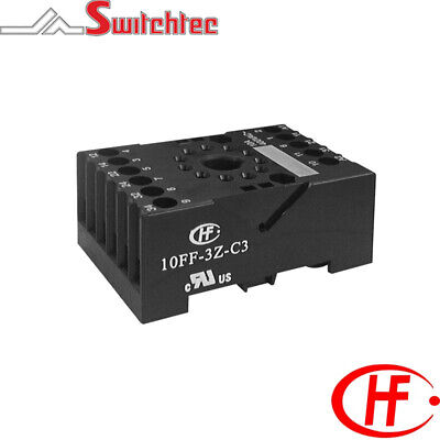 Ip20 Din Rail Mount Socket Suitable For 11 Pin Octal Relays