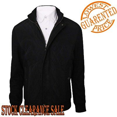 Juicytrendz Mens Padded Diamond Quilted Coat Cord Patch Winter