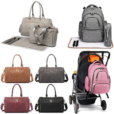 Maternity Baby Diaper Handbag Baby Changing Bag Backpack Nappy Wipe Clean Set