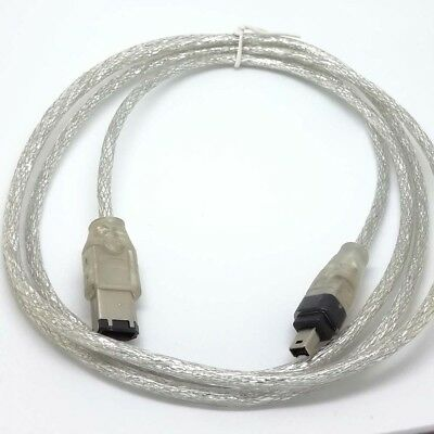 Fire Wire leads 5 FT 1.5m IEEE 1394 FireWire iLink DV Cable 6 Pin to 4 Pin cord