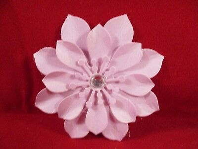 6 Handmade Paper Flowers...............light Purple