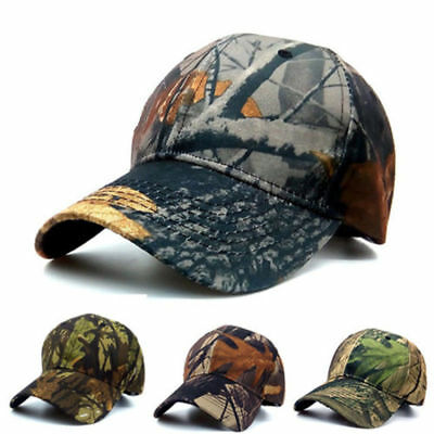 Mens Camouflage Army Baseball Hat Hunting Fishing Shooting Sport Adjustable Caps