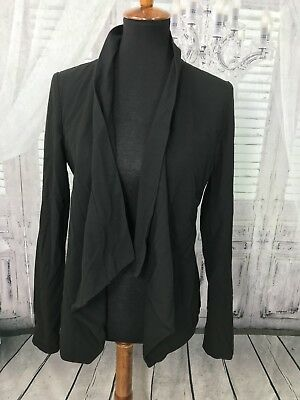 Motherhood Maternity Black Blazer Stretch Career Waterfall Sz Medium ❤Q