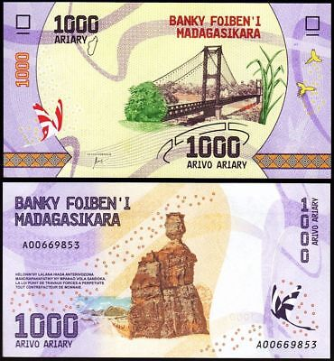 MADAGASCAR 1000 Ariary 2017  - UNC  - Pick New 2017