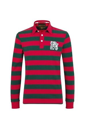 (Medium, Z114 Red/Mid Green) - Front Up Rugby Men's World Tour Rugger Long