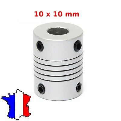 COUPLEUR 10x10mm - Shaft Flexible Coupling Coupler - 10*10 accouplement moteur