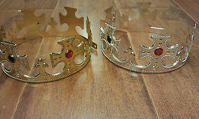 Majestic King Queen Play Plastic Pretend Crown Costume/party/Dress Up