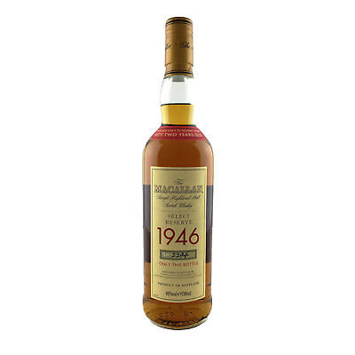 The Macallan 1946 52 Year Old Special Reserve Single Malt Scotch Whisky 70cl 40%