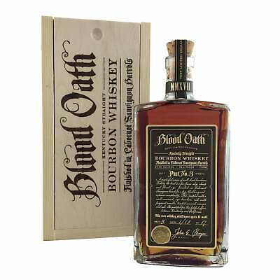 Blood Oath Pact 3 American Bourbon Whiskey 750ml 98.6 Proof (49.3%)