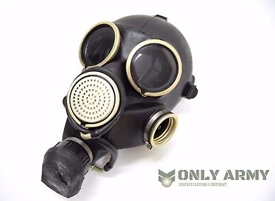 Genuine Russian Military Black Gas Mask Rubber Respirator USSR Soviet Army NEW