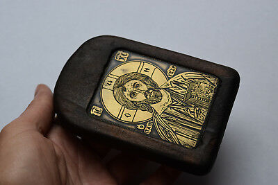 ⭐ Antique/Vintage  Orthodox Russian Icon Copper on wood,hand made⭐