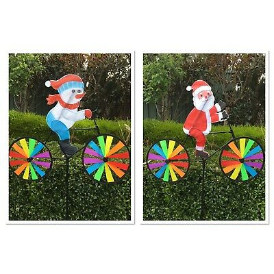 Christmas Garden Windmill Decoration-Snowman/santa On Bike