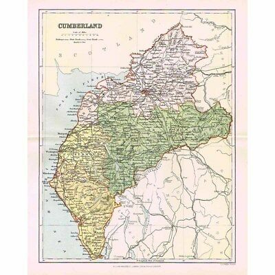 CUMBERLAND - Antique Map 1894 by William MacKenzie