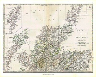 SCOTLAND (North Sheet) inset of Shetland - Antique Map 1868 by Keith Johnston