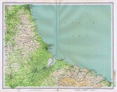 MIDDLESBROUGH Antique Map 1903 by Bartholomew; Hartlepool, Sunderland, Stockton