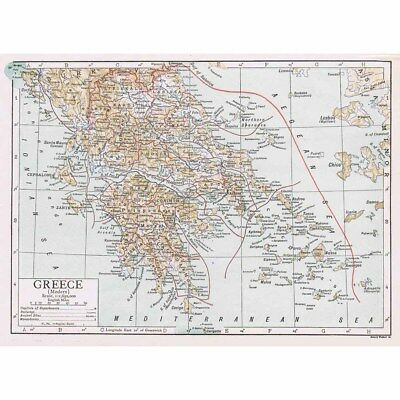 GREECE (Modern Age) - Vintage Map 1926 by Emery Walker