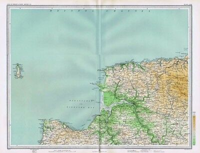 ILFRACOMBE and BARNSTAPLE - Antique Map c1903 by Bartholomew; Bideford, Lynton