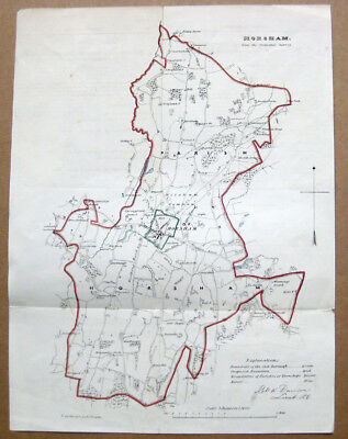 HORSHAM Antique Map by Dawson c1832-37, From the Ordnance Survey