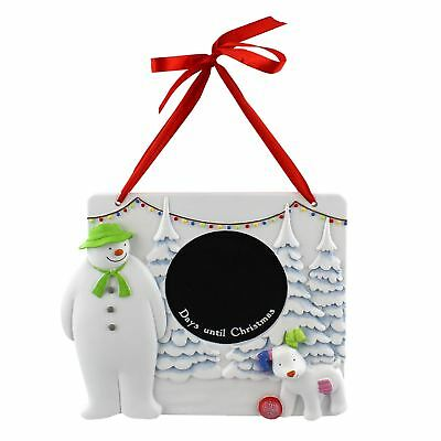 The Snowman & The Snowdog Day Until Christmas Chalkboard Wall Hanging Plaque