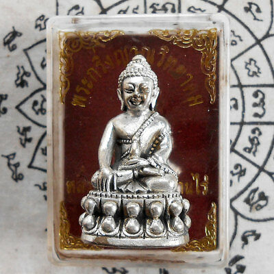 Wealth Money Rich Buddha Phra Kring, LP. Koon Magic Thai Amulet Lucky Talismans