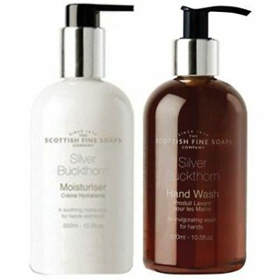 Scottish Fine Soaps Silver Buckthorn Hand Wash & Moisturiser Set