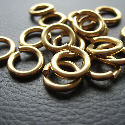 """9/16"""" Solid brass jump rings Connectors Leather Craft Fob wallet chain"""
