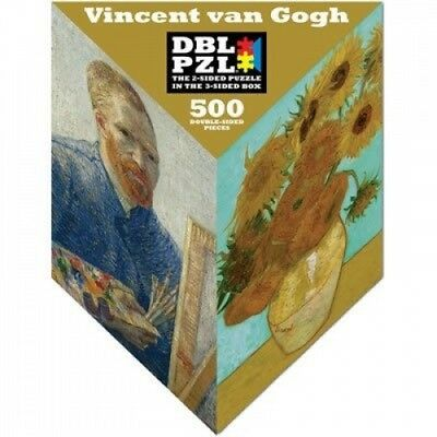 Vincent van Gogh Sunflowers DBL PZL 3-sided Box 500 Double-sided Pieces