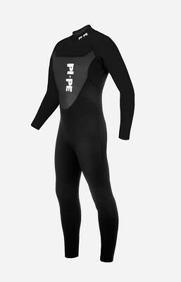 (XX-Large, Black) - PI-PE Active L/S Men's Full Wetsuit - 3mm Sharkskin w