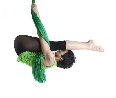 (Dark Green) - Dasking 5m Premium Aerial Silks Equipment Aerial Yoga Hammock
