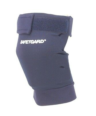(Large, Navy Blue) - SafeTGard Short Sliding Leg Pad(Available in 5 Colours)