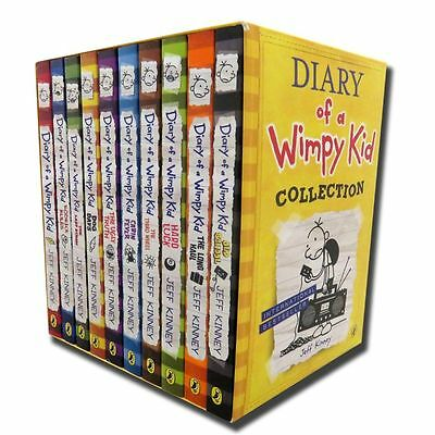 Diary of a Wimpy Kid 10 Books Boxed Set By Jeff Kinney