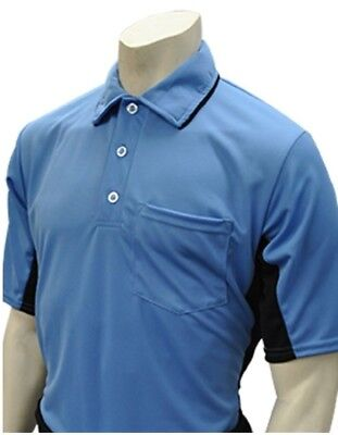 (Large, Sky Blue/Black) - Smitty Major League Style Umpire Shirt - Performance