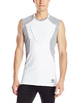 (X-Large, ADULT) - McDavid Hex Sternum Shirt, White/Grey. Delivery is Free