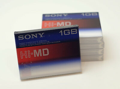 5 St. SONY Hi-MD 1 GB // Neu & OVP! (High-End MDs MiniDisc Mini-Disc)