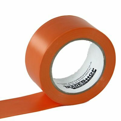 Orange Lane Marking Tape - Floor Marking Tape - 50mm Wide - 33m Roll