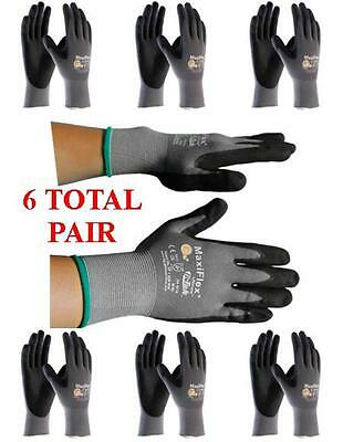 G-Tek MaxiFlex 34-874 PIP Seamless Knit Nylon Gloves - 6 Pairs - Choose Size!