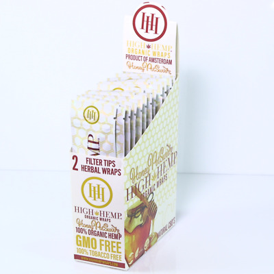 High Hemp Organic Wraps Full Box 25 (2 Wrap) Pouches 50 Wraps (HONEY POT SWIRL)