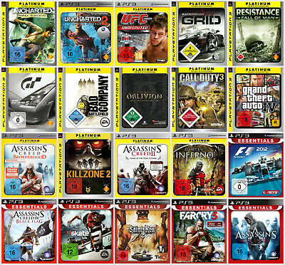 TOP Playstation 3 Spiele Platinum/Essentials in TOP Zustand - PS3 - GTA, BF, AC.