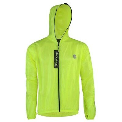 (European Size S/Asian Size M) - Rockbros Ultra Lightweight Rain Jacket Saftey
