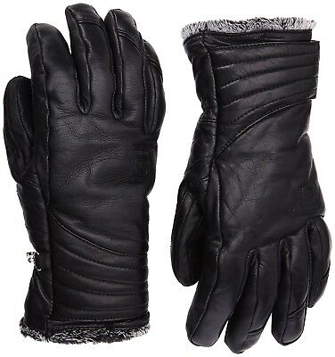 (Small, Black) - Salomon Women's Native Leather Glove -. Shipping is Free