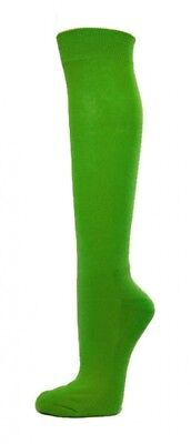 (Large, Bright Green) - COUVER Premium Quality Knee High Sports Athletic