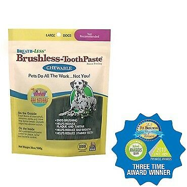 Breathless Brushless Toothpaste for Dogs Large Ark Naturals 18 oz Chewable