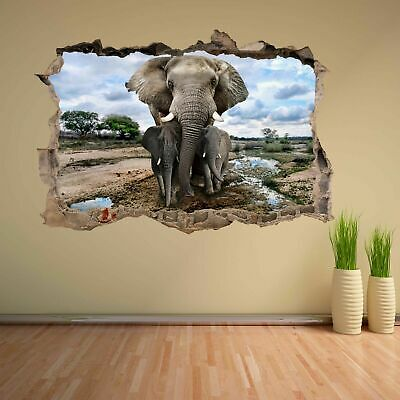 Tiger Wildlife Animal 3D Wall Sticker Mural Decal Kids Room Home Decor CT50