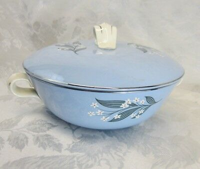 HOMER LAUGHLIN Skytone Stardust - Serving Bowl w-Lid - Vintage 1950s, Gorgeous!
