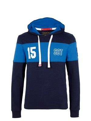 (Large, Z113 Navy/Light Blue) - Front Up Rugby Men's Twenty15 Hoody Mid Layers