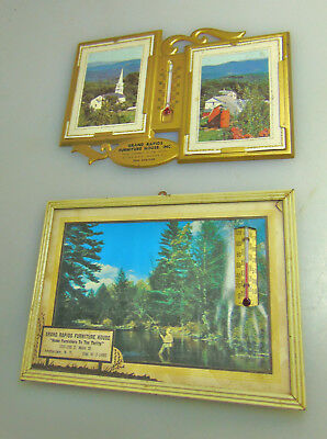 2 Amsterdam NY Advertising Picture Thermometer Grand Rapids Furniture House.