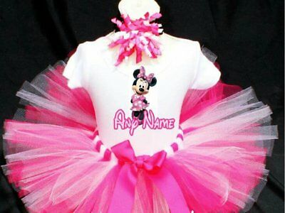 Minnie Mouse Tutu Outfit Birthday Dress Up Custom Any Name and Age Added