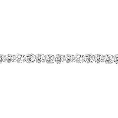 "1/4 ct. tw. Diamond April Birthstone 7 1/4"" Tennis Bracelet in Sterling Silver"